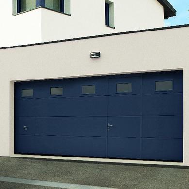 Porte de garage sectionnelle motorisée prix avec pose