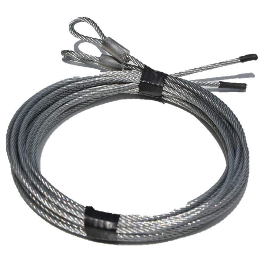 Changement cable porte de garage sectionnelle