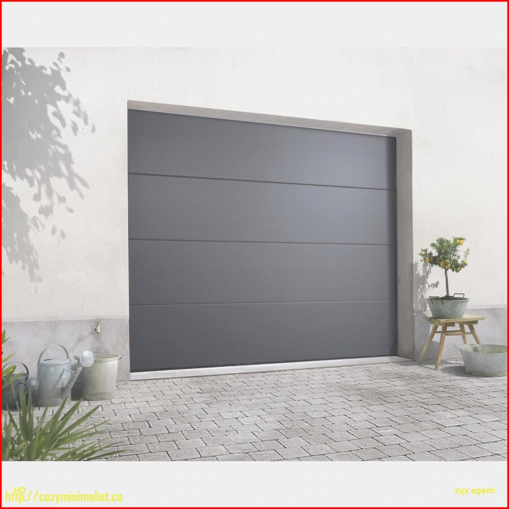 Porte de garage sectionnelle grise castorama bois eco - Porte de garage castorama ...
