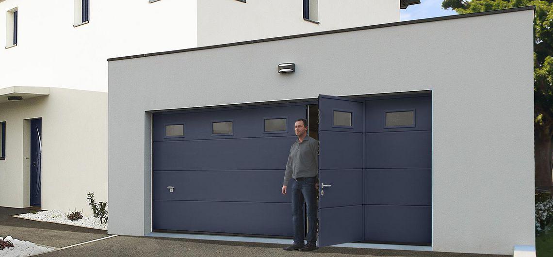 Prix porte de garage sectionnelle avec porte