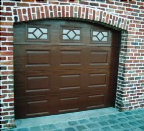 Porte de garage sectionnelle cintrée