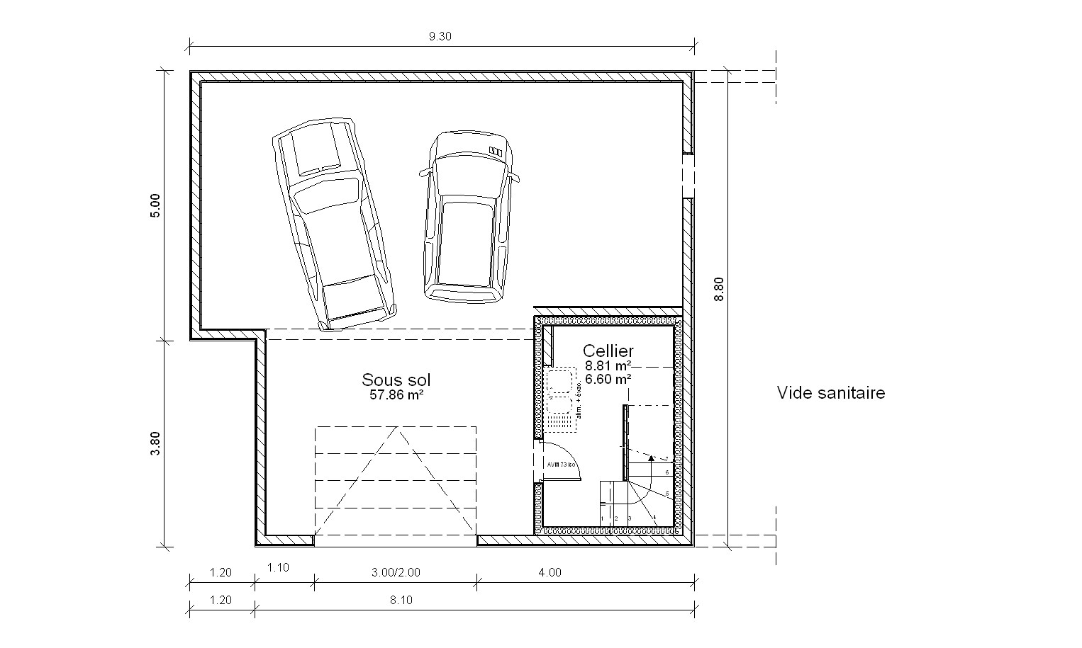 largeur porte de garage pour 2 voitures bois eco. Black Bedroom Furniture Sets. Home Design Ideas