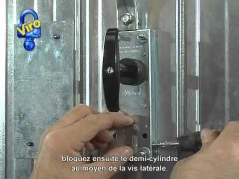 Demi cylindre pour porte de garage basculante