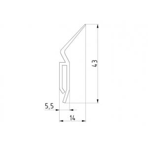 Joint verticale porte de garage sectionnelle