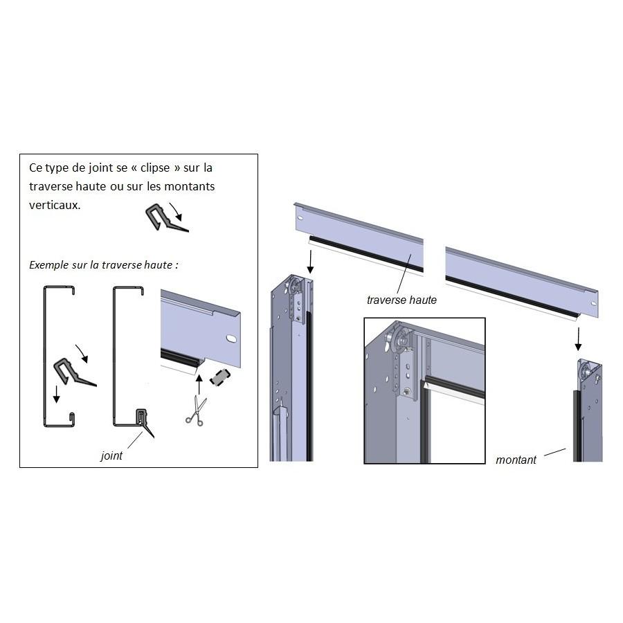Montant porte de garage sectionnelle