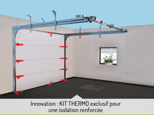 Porte de garage sectionnelle 3m en kit