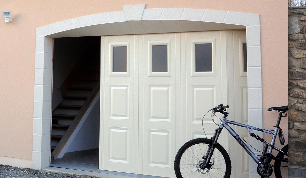 Porte de garage ouverture sectionnelle