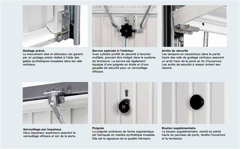 Mecanisme serrure porte de garage basculante bois eco - Mecanisme porte de garage ...