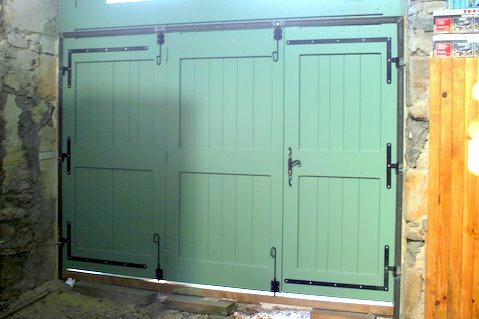 Fabriquer porte de garage en bois 2 vantaux