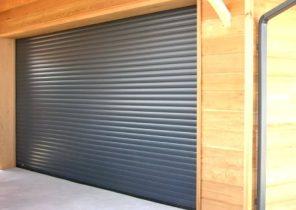 Porte de garage sectionnelle lectrique bois eco - Montage porte de garage enroulable ...