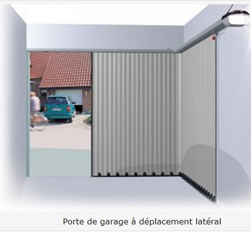 Porte de garage sectionnelle fixation laterale
