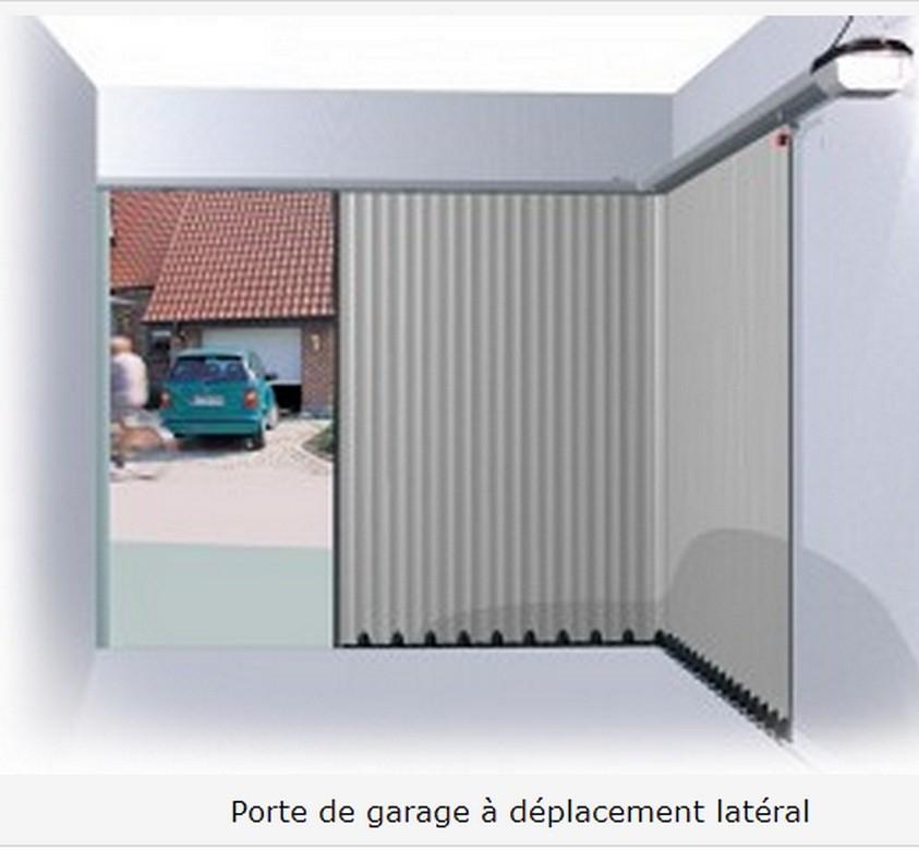 Porte de garage sectionnelle avec moteur latérale