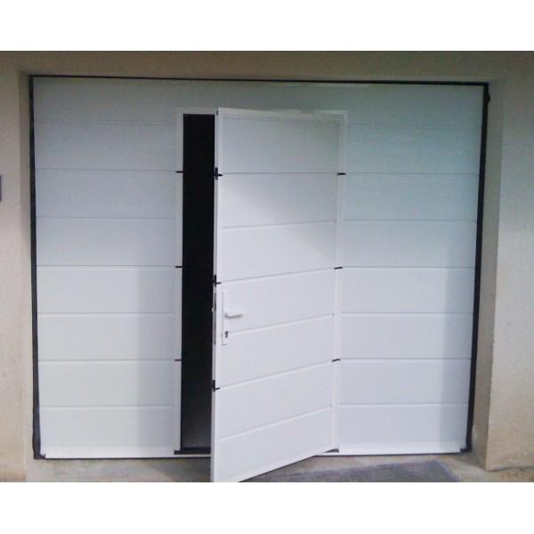 Porte de garage avec portillon integre hormann