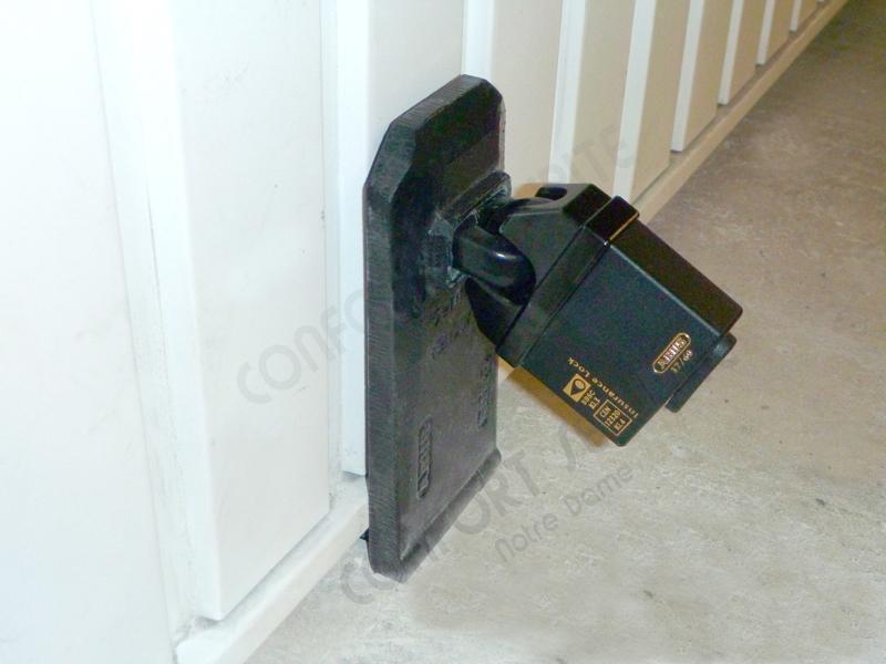 Sécuriser une porte de garage sectionnelle