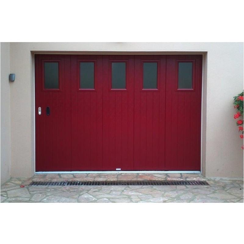 Porte de garage a deplacement lateral motorise prix