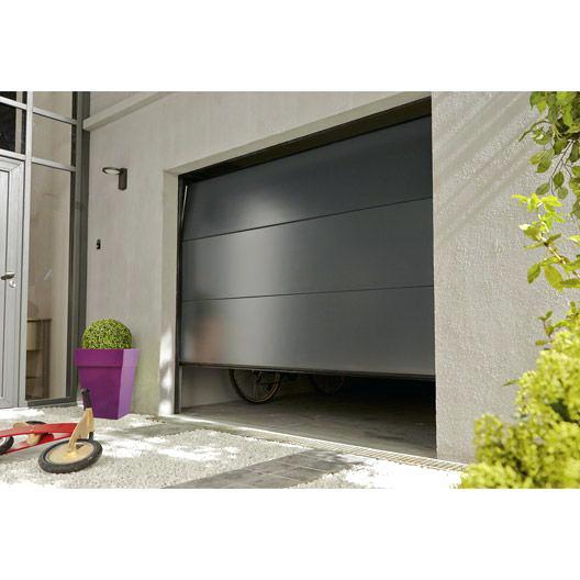 porte de garage basculante motoris e castorama bois eco. Black Bedroom Furniture Sets. Home Design Ideas