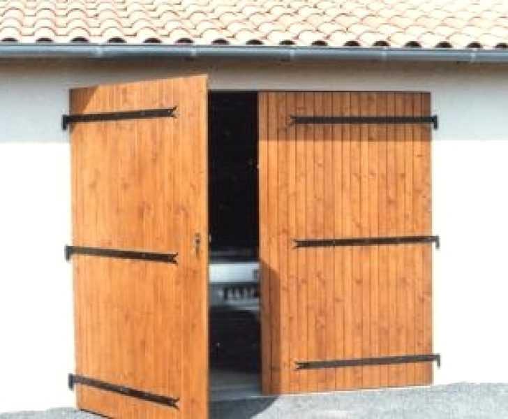 Fabriquer porte de garage 2 vantaux