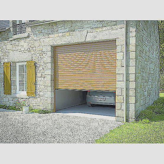 porte de garage enroulable pose en tableau bois eco. Black Bedroom Furniture Sets. Home Design Ideas