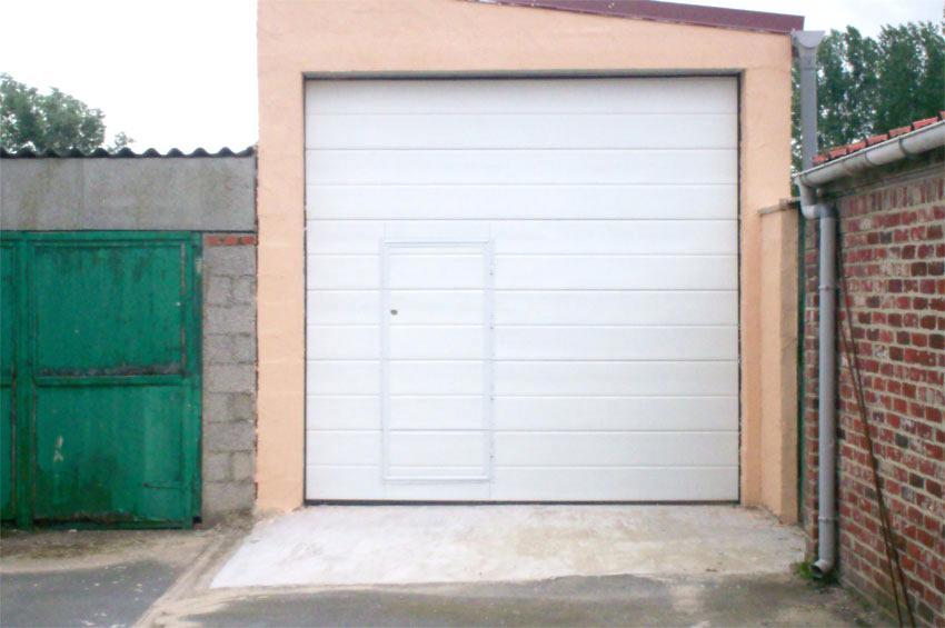 Montage porte de garage sectionnelle keritek