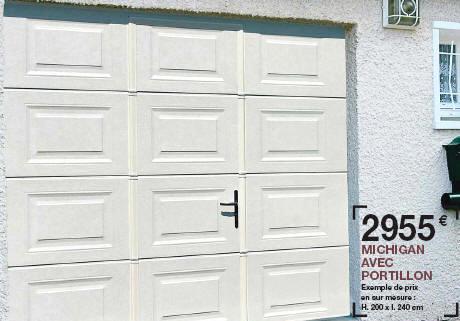 Porte de garage sectionnelle avec portillon chez lapeyre bois eco - Porte de garage sectionnelle lapeyre ...
