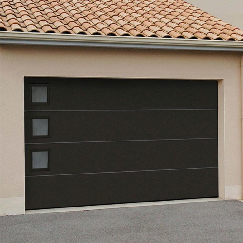 Porte de garage automatique lapeyre bois eco - Porte de garage sectionnelle lapeyre ...