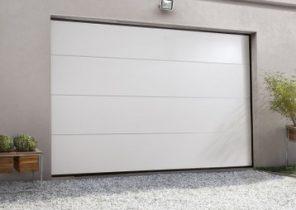 Porte de garage basculante avec portillon 300x200 bois eco - Porte de garage sectionnelle 200 300 ...