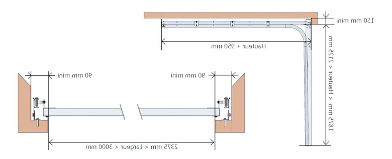 Porte de garage dimensions tableau bois eco - Porte de garage dimension ...