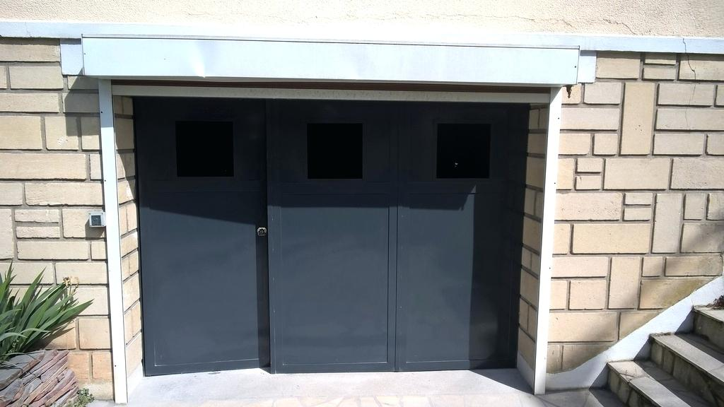 Porte de garage 3 vantaux bois eco - Porte garage isolante ...