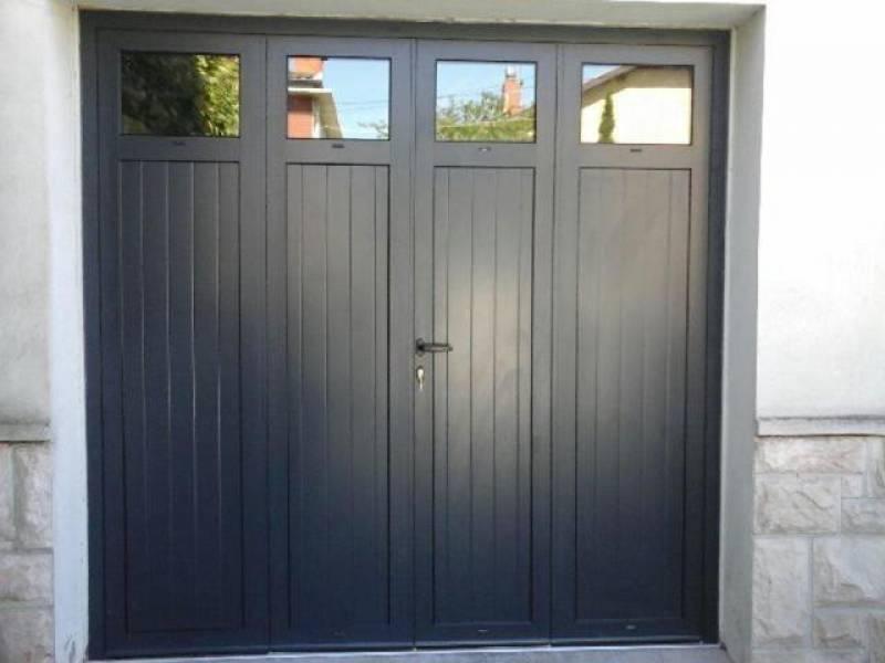 Porte de garage 4 vantaux pvc