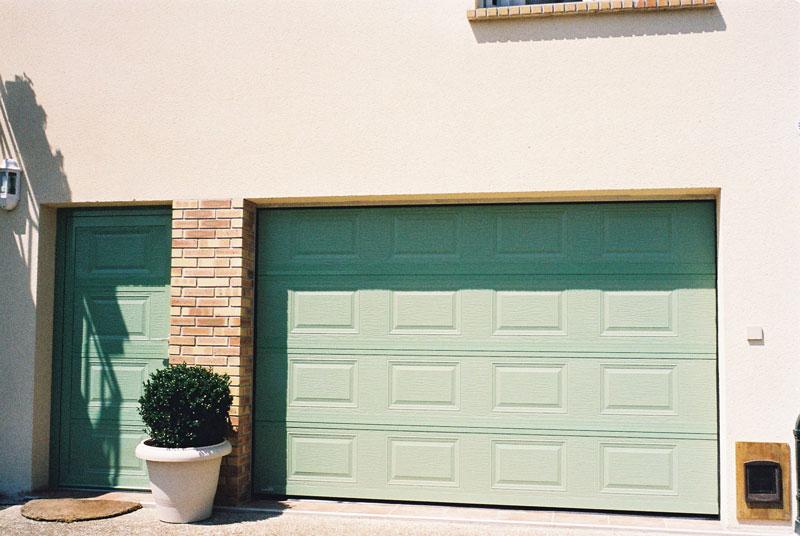Porte de garage scintelle