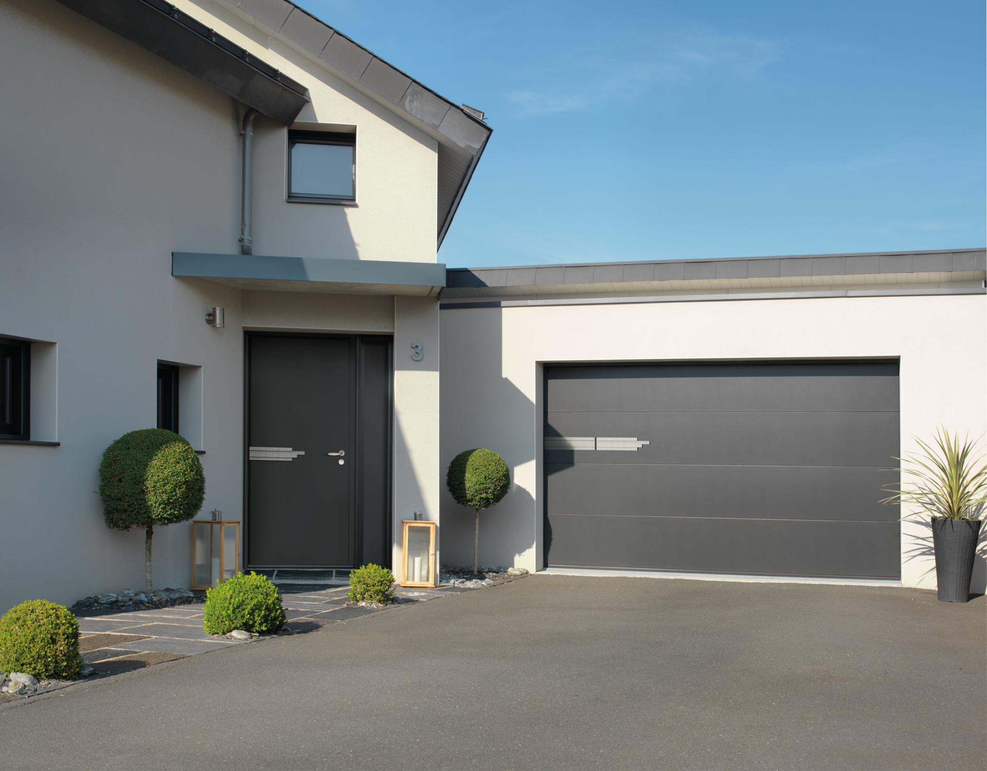 Porte de garage sectionnelle ral 8019