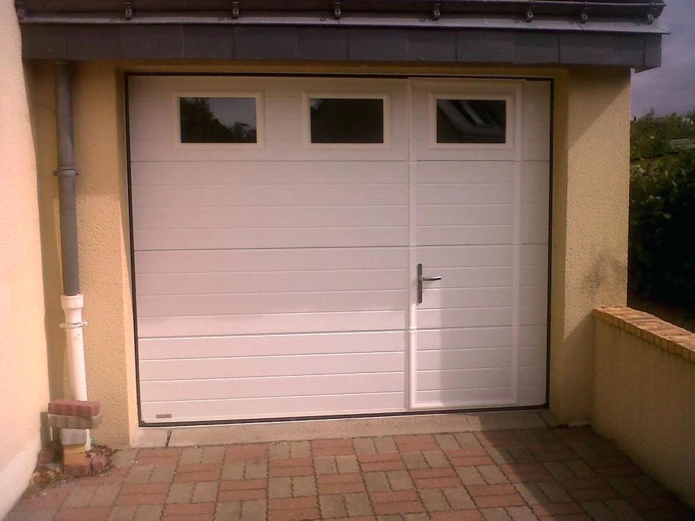 Porte de garage sectionnelle avec porte intégrée prix