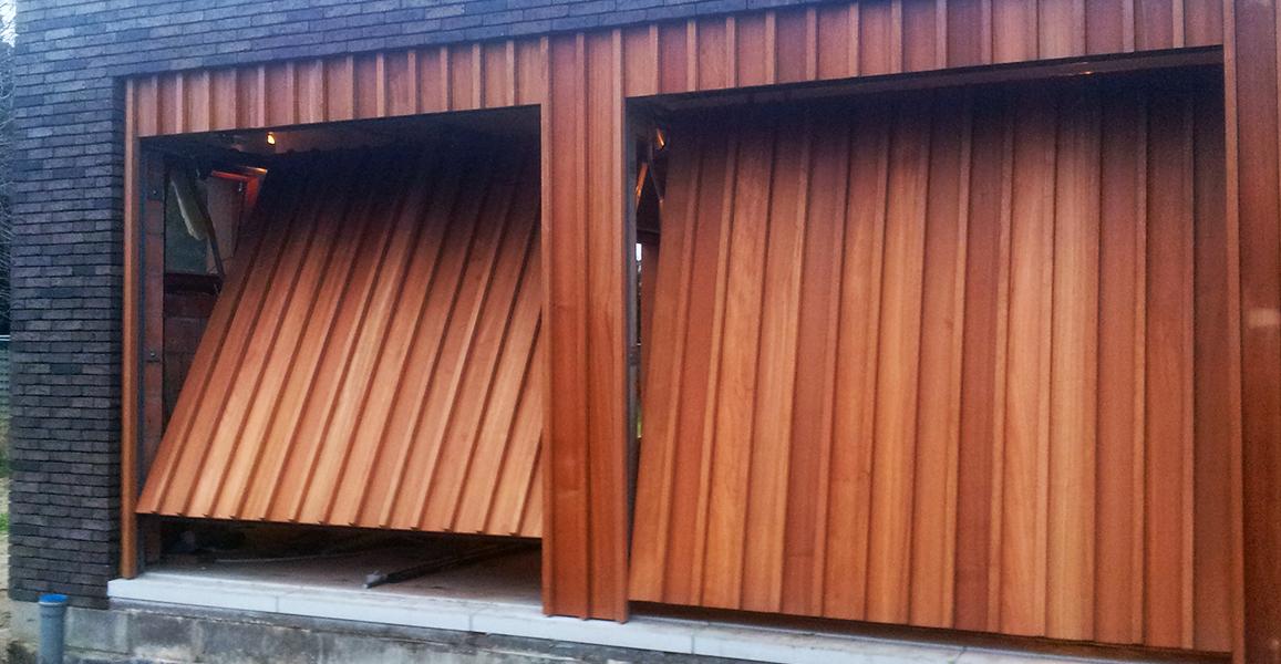 Fabricant de porte de garage sectionnelle en bois