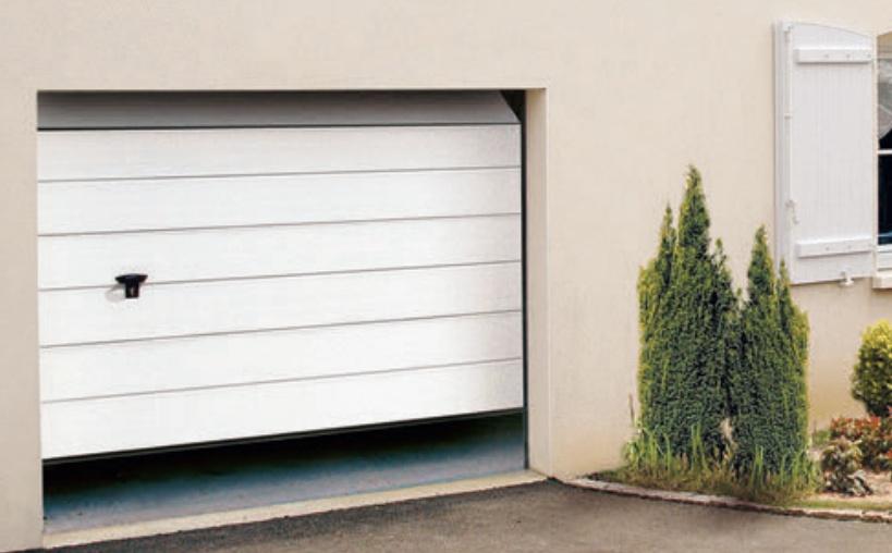 Porte de garage sectionnelle nervure