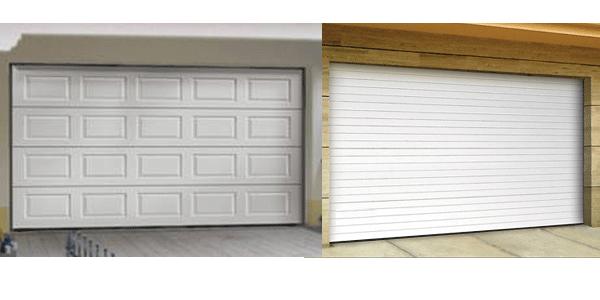 Porte de garage sectionnelle chausson
