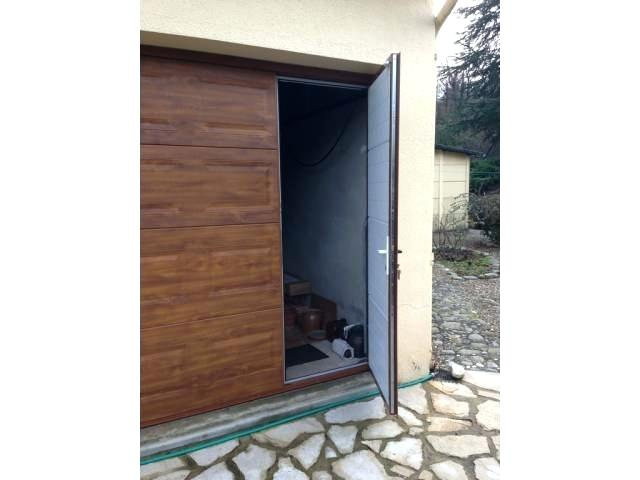 Prix porte de garage sectionnelle avec portillon hormann bois eco - Prix porte de garage ...