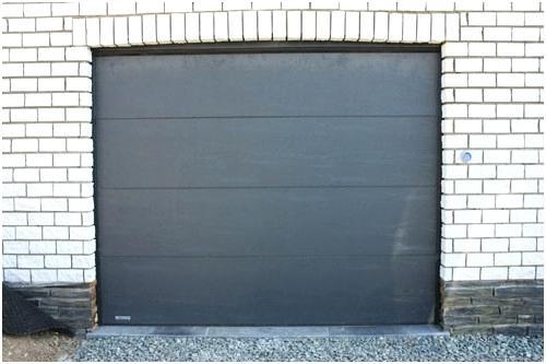 prix pose porte de garage sectionnelle motoris e bois. Black Bedroom Furniture Sets. Home Design Ideas