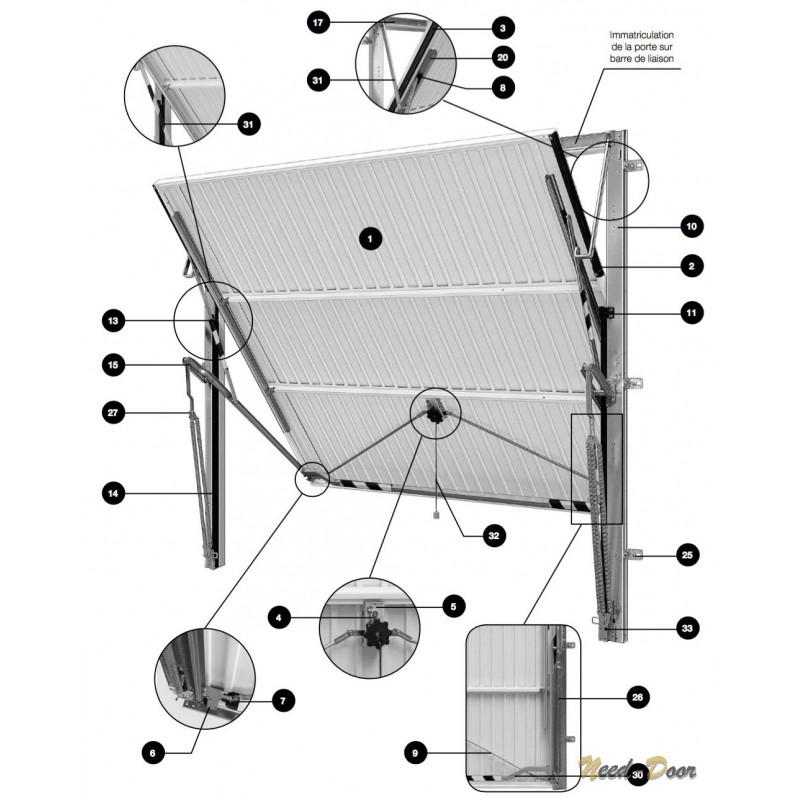 piece detachee de porte de garage basculante bois eco. Black Bedroom Furniture Sets. Home Design Ideas