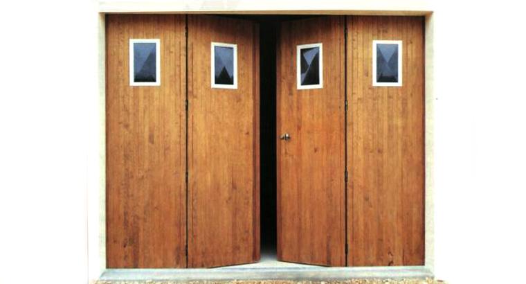 Prix porte de garage en bois coulissante bois eco - Porte de garage bois coulissante ...