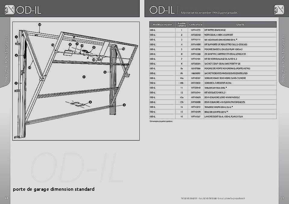 Dimensions standard porte de garage basculante bois eco Dimension standard porte de garage
