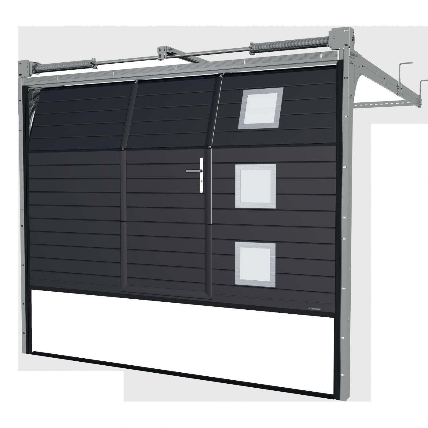 Porte de garage sectionnelle avec portillon perpignan