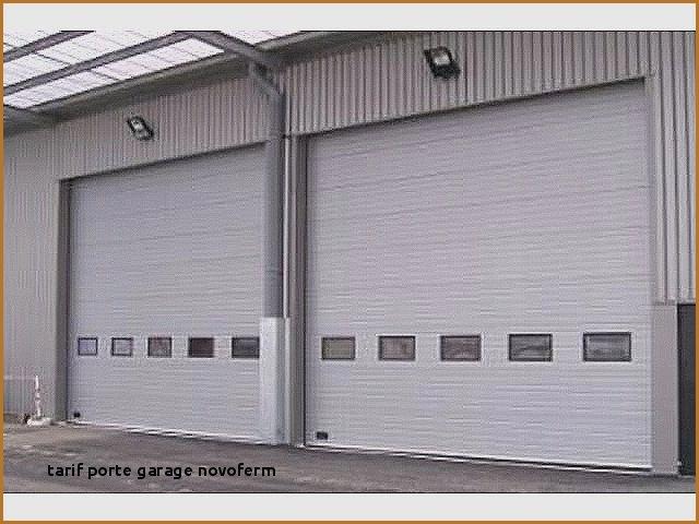 Porte de garage sectionnelle double paroi isolante marque novoferm