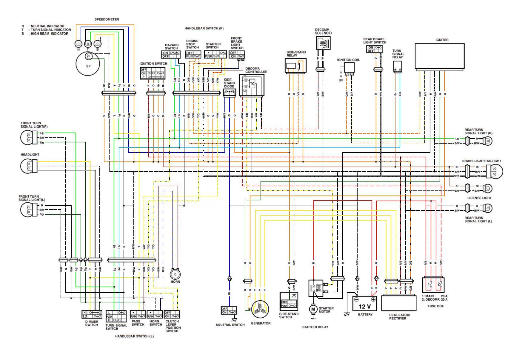 Schema Electrique Suzuki Burgman 400
