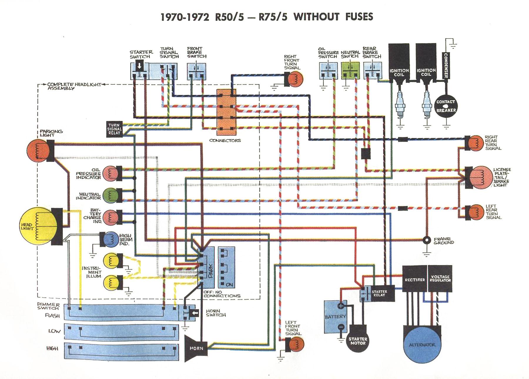 Schema Electrique Bmw R100  7