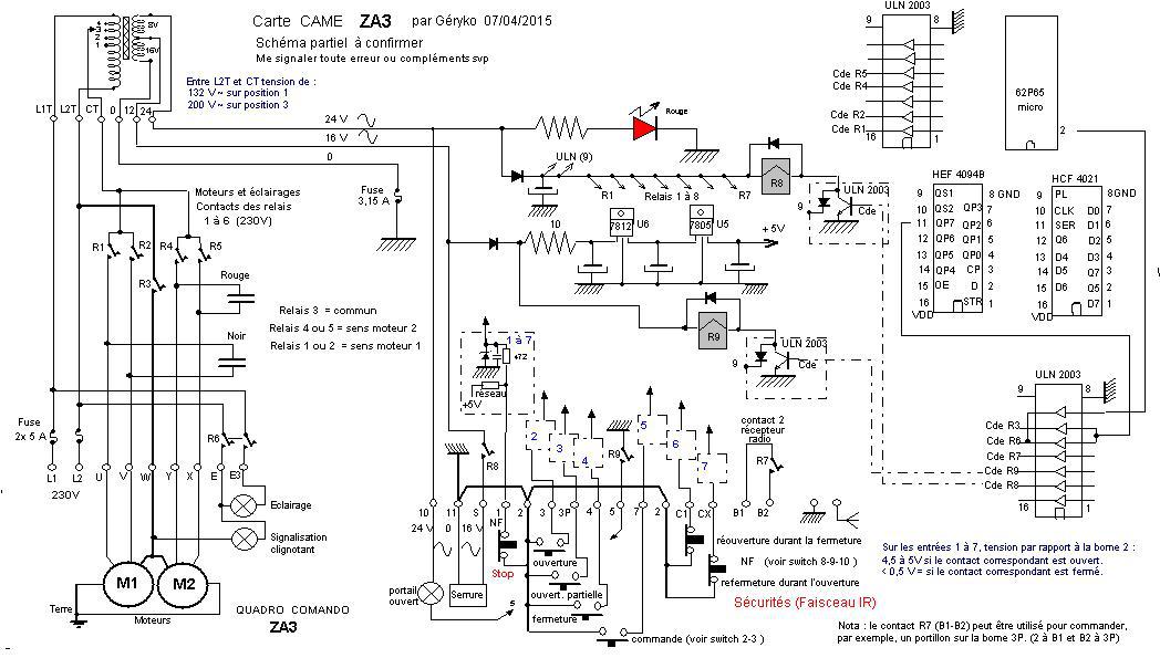 schema electrique vedette