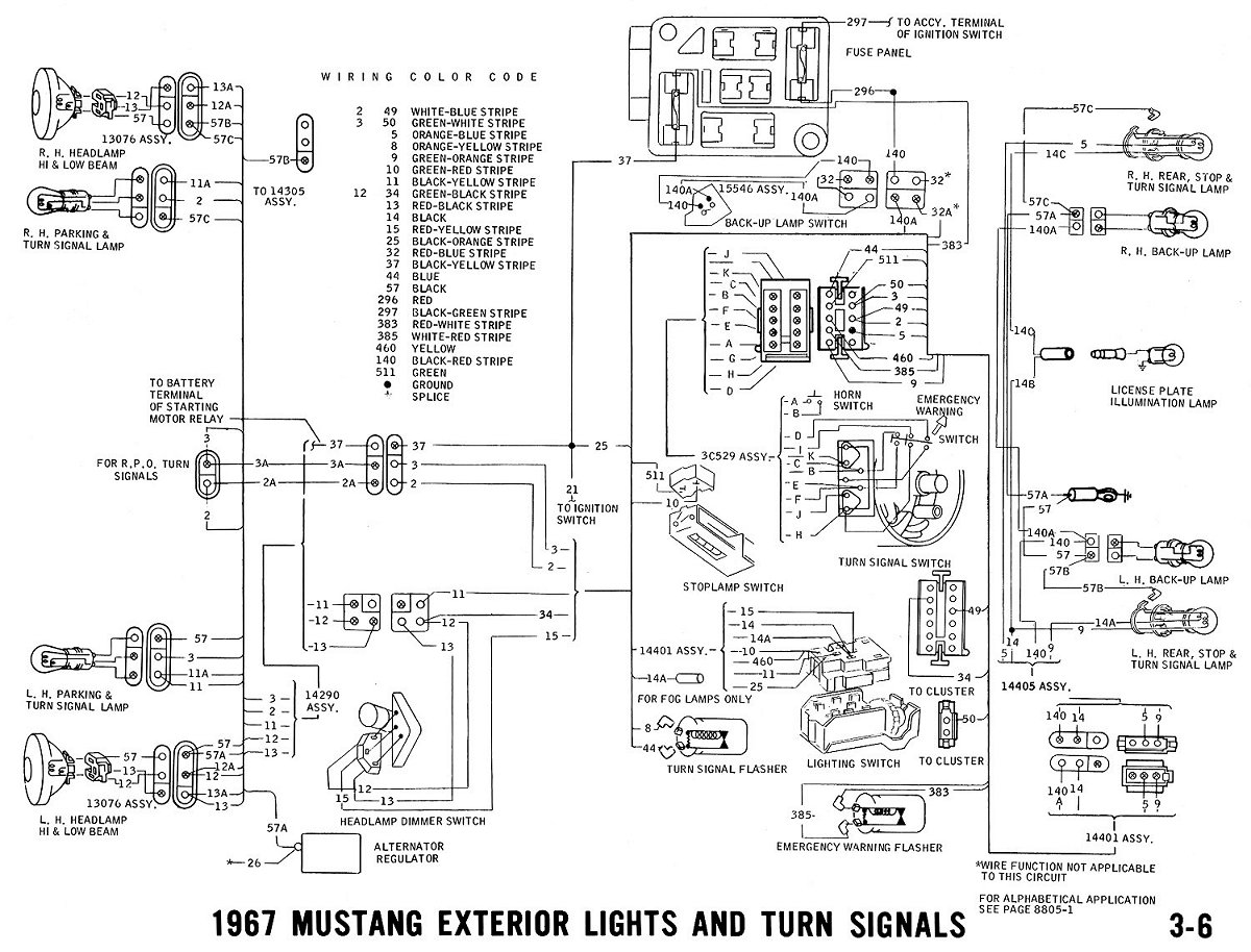 Schema Electrique Ford Mustang 1968
