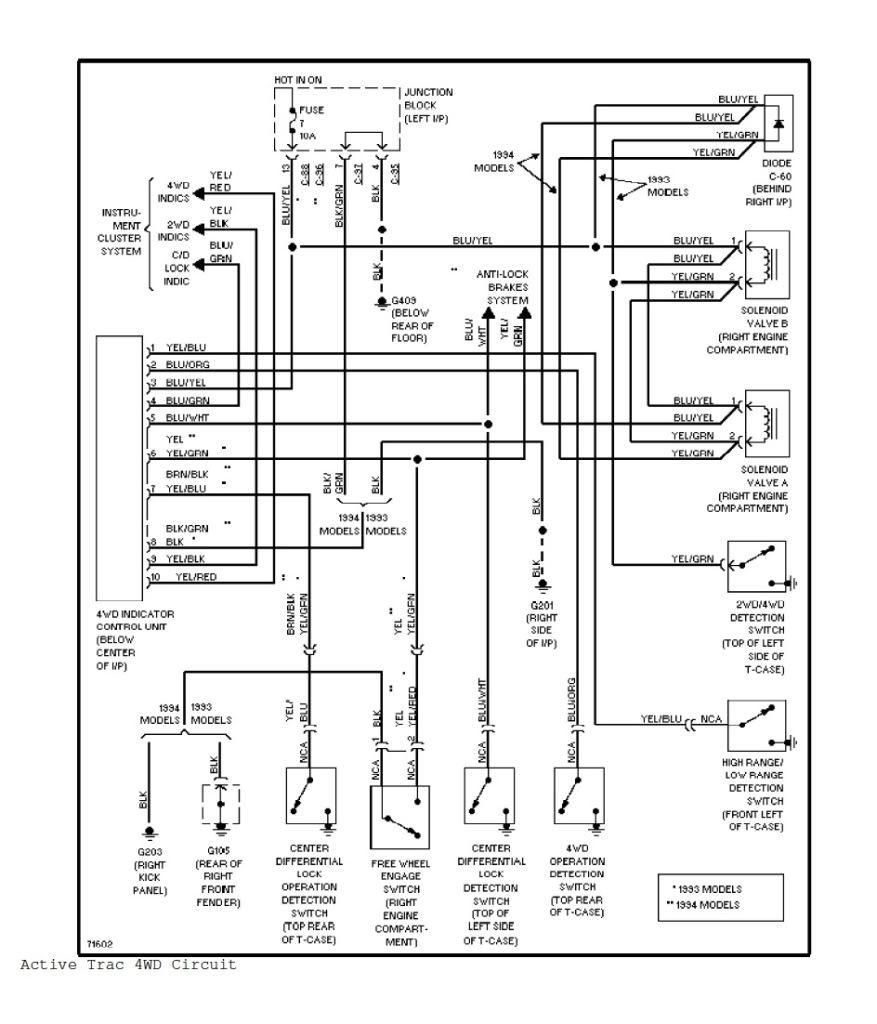 mitsubishi pajero schema electrique