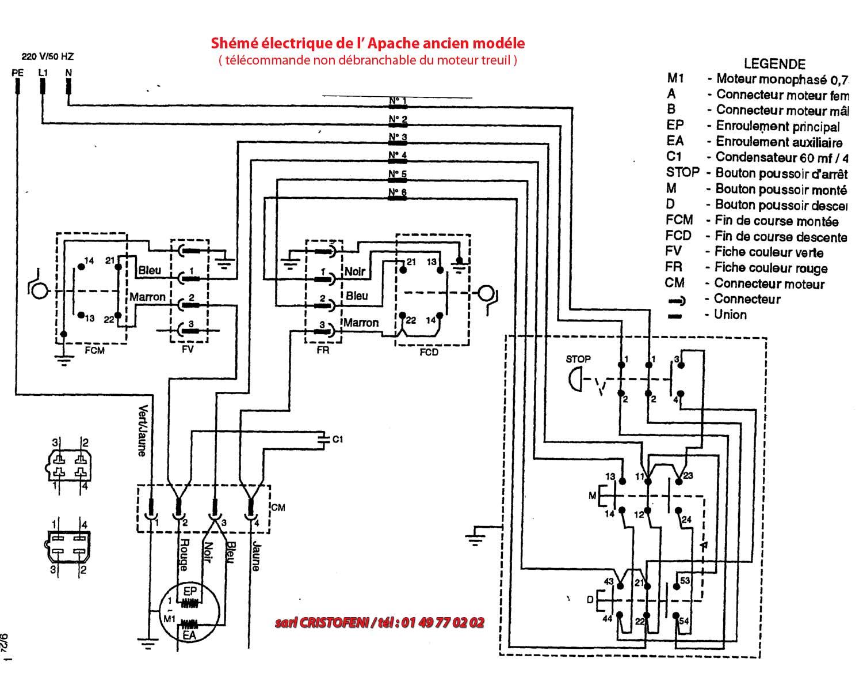 schema electrique moteur monophas u00e9