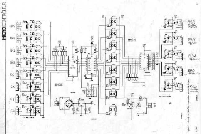 ascenseur schema electrique