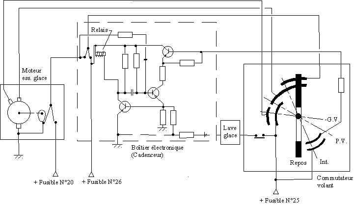 schema electrique leve vitre nissan terrano 2